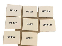 Vtg 1973 Cadaco Old Wild West Game Board Replacement Cards Good Guys And Bad Guys