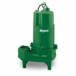 Myers Whr7-03 Sewage Pump 0.75 Hp 200v 3 Ph Manual 20' Cord New Old Stock