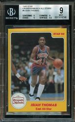 1985 Star Isiah Thomas Crunch N Munch 6 Bgs 9 Mint. Pistons. Hall Of Fame