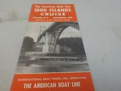 1957 Flyer-the American Boat Line-1000 Island Cruise