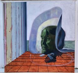 Head Of A Saint Contemporary Art Oil Painting By Jago Max Williams 1972 -