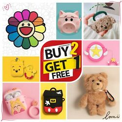 AirPods Case Silicone Protective Cover Cute 3D Cartoon For Apple AirPod 2 amp; 1 $7.99