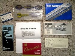 1968 Chevelle Ss Convertible Gm Factory Original Owners Manual Set W/ Fb Order