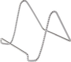 Bardand039s Twisted Silver-toned Wire Stand 6 H X 5.5 W X 8 D Pack Of 12