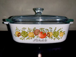 Vintage Rare Spice Of Life L Echalote Casserole Baking Dish A-1-b With Lid P-7-c