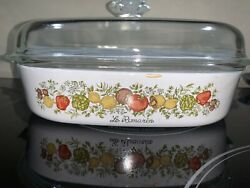 Vintage First Edition, Spice Of Life Casserole 9 3/4, A-10-b With Original Lid.