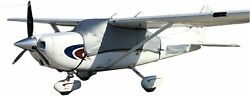Blue Gator Cessna 182 Skylane 1964 Model And Later Airplane Cover- Silver