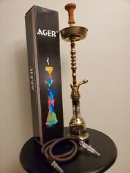 Shisha Hookah Set. New, Sized 24_35 Inches. Colors Gold,silver, And Mult Color