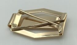 14k Yellow Gold Designer And Co. Money Clip Golf Clubs