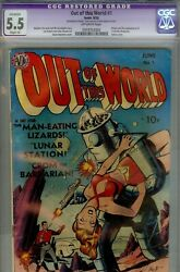 Out Of This World 1 Avon - Cgc 5.5 Small Amt Of Glue Iconic Robot Cvr-1950