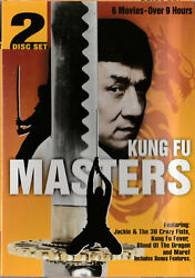 Kung Fu Masters Dvd 2008 2 Disc Set Jackie Chan Invisible Fist Blood Of Dragon