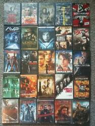 Lot Of 25 Movies Dvd Used Action Fantasy Lord Rings Cruise Pitt Matrix Blade +++