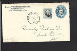 Whittemore,iowa 1894 Cover Advt Whittemore State Bank, Kossuth Co. 1878/op.