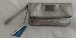 NWT Simply Vera Vera Wang Pewter Clutch Wrist Purse Hand bag A $14.99