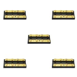 5pc Boat 4 Gang Duel Buss Bar Block Positive And Negative 8 Terminal 32v60a
