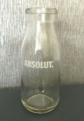 New Rare Absolut Vodka Limited Edition Promo Collectable Milk Bottle Shape Glass