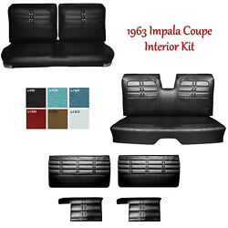 1963 Impala Coupe Front And Rear Bench Seat Upholstery + Panel Set - Any Color