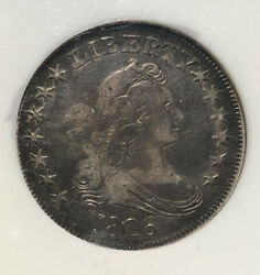 1806 Pointed 6 With Stem Half Dollar O-116 Ngc Vf 20