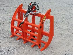 48 Compact Tractor Root Rake Clam Grapple Attachment Skid Steer Quick Attach