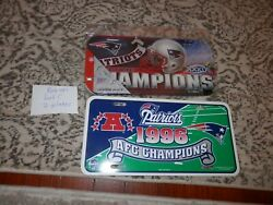 New England Patriots License Plate Lot 2 License Plates 96 Afc Champs Nfl