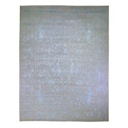 11and0398x15and0391 Broken Cypress Tree Design Wool And Silk Thick Hand Loomed Rug G49358