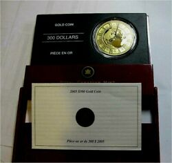 2005 Canada 300 Dollars Gold Coin Standard Time Proof Early Coa 99