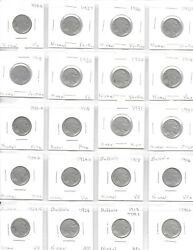1913-1938 Assorted 20 Dated Buffalo Nickels Mixed Quality Vg-xf