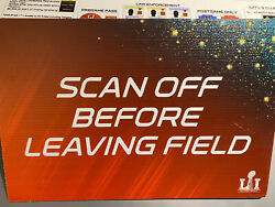 New England Patriots Nfl Super Bowl 51 Scan Off Before Leaving Game Used Sign