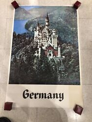 Vintage Germany Travel Poster Original 1960's. See Pictures