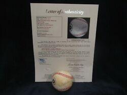 Packers And Brewers Greats W/nitschke Autographed Brewers Baseball Andndash Full Jsa Loa