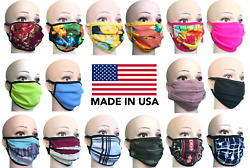 Face Mask Protect Mouth and Nose USA Made Reusable Cotton Blend two Layer Unisex