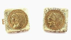 14k Cufflinks With Us Liberty 2.50 Coins Retail Value 3,950. Closeout Price