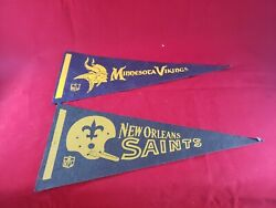 Collectible Vintage 1970s Nfl Team Mini Pennant 11.5 X 5