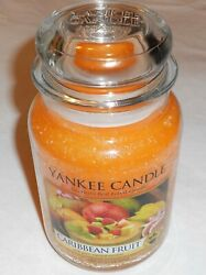 Yankee Candle Tropical Caribbean Fruit 22 Oz Rare Discontinued Candle New