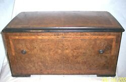 Music Antique Music Box Works , 6 Tunes , Drum And Birds , Lot Of Broken Fingers