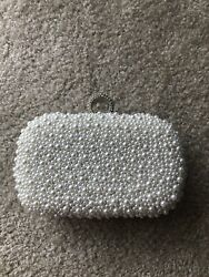 clutch of pearls White Bag $31.00