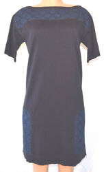 Louis Vuitton Embroidered Lace Wiggle Pencil Knit Cotton Short Sleeves Dress M