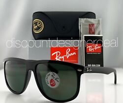 Ray Ban RB4147 Sunglasses 601 58 Shiny Black Green G 15 Polarized Lens 60mm NEW $118.99