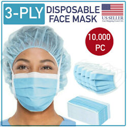Disposable Face Mask 10000 Pcs 3-ply Medical Surgical Dental Earloop Mouth Cover