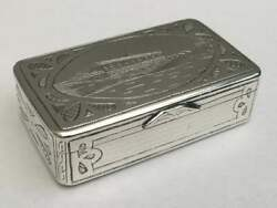 Imperial Russian Silver Niello Gold Snuff Box Moscow Dated 1879 Free Postage