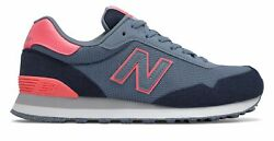 New Balance Women's 515 Shoes Blue with Pink $31.01