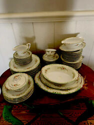 Vintage China Made In Japan White Butter Yellow Floral Full Set Serving Dishes