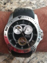 Relic By Fossil Moon Phase Automatic Men's Watch Zr-15537