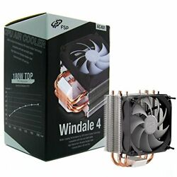 Fsp Windale 4 Cpu Cooler 4 Direct Contact Heatpipes 6mm Aluminum Alloy With 120