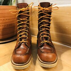 Holy Grail Vtg 1954 Red Wing Irish Setter Moc Toe Leather Boots Size 6
