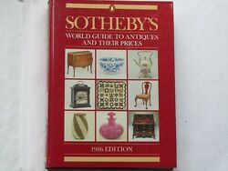 1986 Edition Of Sotherbys World Guide To Antiques And Their Prices
