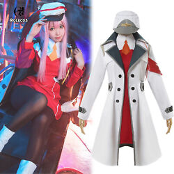Darling In The Franxx 02 Zero Two Uniform Outfit Coat Cosplay Costume Halloween