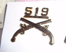 519th Military Police Officer Branch Of.service,bos.collar Brass