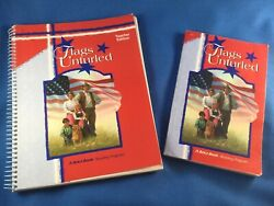 Preowned Set Of 2 Abeka 4th Gr. Reader + Teacher Edition - Flags Unfurled