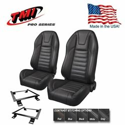 Tmi Pro Series Sport R Highback Bucket Seats For 1966 - 1972 Chevelle W/bench